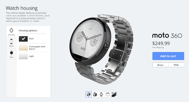 The Moto 360 Bring Personalized with Moto Maker Tool