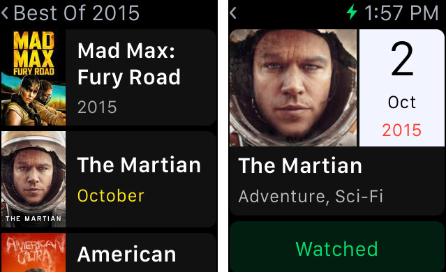 TodoMovies 4 Controls The Films You Want To See From Apple Watch
