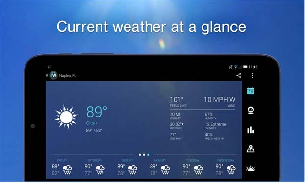 1 WEATHER - Best Apps Weather Apps for Android