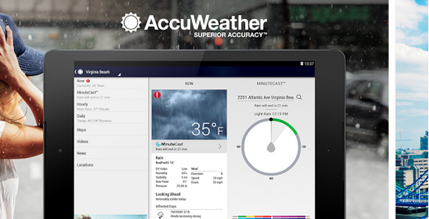 accu weather app