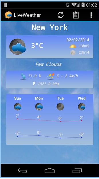 live weather app