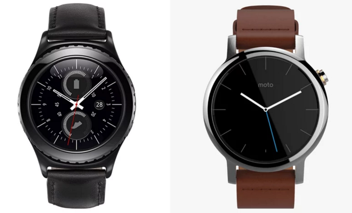 Samsung Gear S2 vs Moto 360 2: The Design and Features
