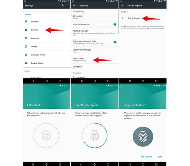 Nexus 6P Fingerprint Scanner