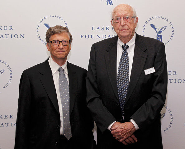 Bill Gates & His Father (gettyimages)