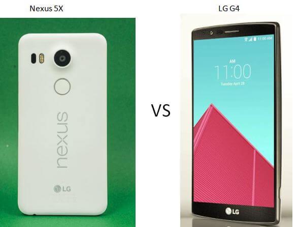 nexus 5x vs lg g4