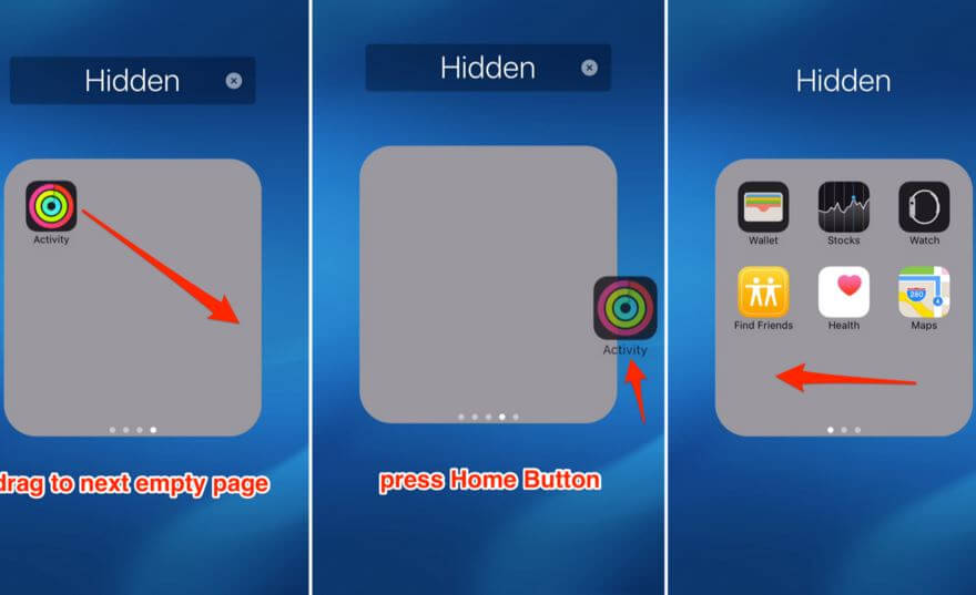 App to find hidden apps