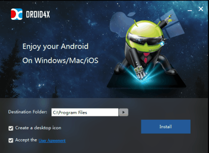 Android Emulator for PC Droid4X