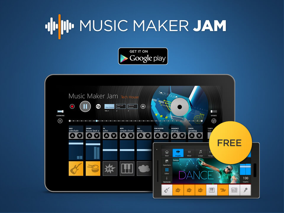 how to use music maker jam