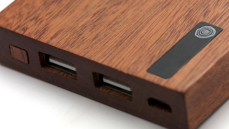 Carved Wood PowerBank