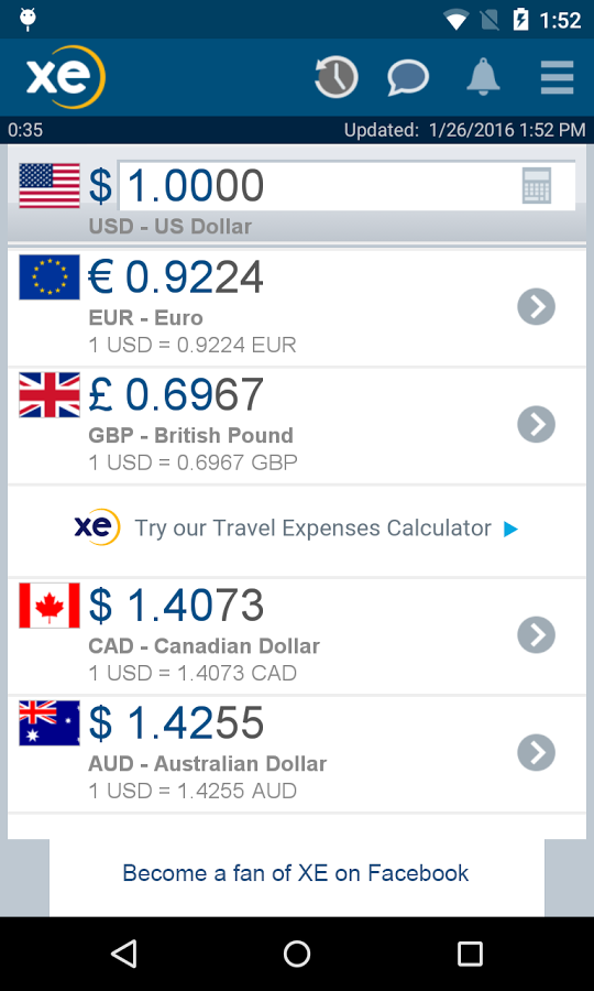 Money Changing Apps for Android: Track Currencies from around the world - Roonby