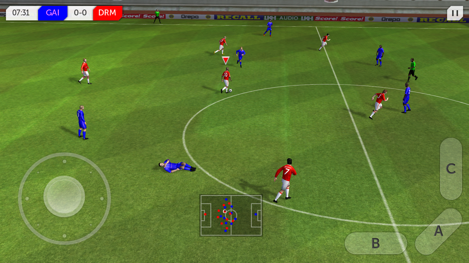 Download best football or soccer games for android in 2014 - Dream League Soccer
