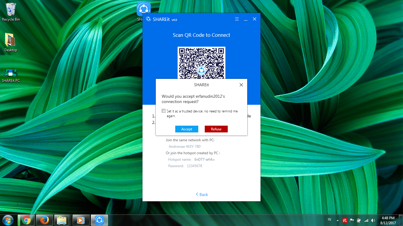 shareit-pc-connected