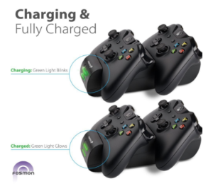 Fosmon Xbox One / One X / One S Controller Charger image 1